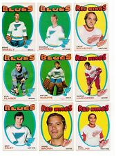 1971-72   OPC     NINE LOT # 3  FOUR WINGS AND FIVE BLUES   3 (RC) (2 GOALIES)