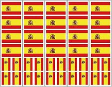 40 Removable Stickers: Spanish Flag, Spain Party Favors, Decals