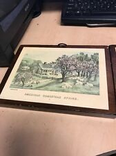 "Vintage Framed ""AMERICAN HOMESTEAD SPRING"" Print ~ Currier and Ives autumn summe"