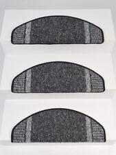 15er Set Stufenmatten Treppenmatten Treppenschoner RUNNER Grau ca. 65x24x4 cm