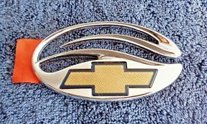 NOS NEW OEM Chrome Chevrolet Malibu Models Body Ornament Bowtie Emblem Nameplate