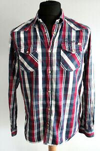 Tom Tailor Hemd Regular Fit Gr.M rot-weiß-blau gestreift
