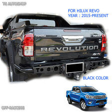 Black REAR BACK TAILGATE OUTER LID COVER TOYOTA HILUX REVO SR5 M70 M80 2016 2017