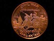 1 oz Copper Round - THE BATTLE OF SHILOH - Civil War 150th Anniversary   #2