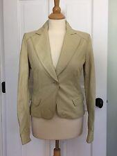 Paul & Shark Women's Beige Leather/blazer  Jacket Size S