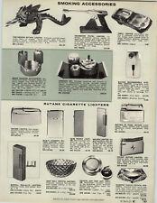 1969 PAPER AD Fire Dragon Butane Brass West Germany Pistol Table Lighter