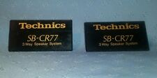 (2) Technics SB-CR77 Logos Emblems Badges Replacement For Speaker Cabinet