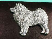 Pewter hand crafted Usa Pin George G Harris Samoyed American Eskimo spitz dog