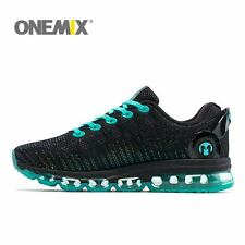 Men's Running Shoes Green Athletic Sneakers Sport Reflective Shoes Young Onemix