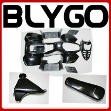 BLACK Plastics Fairing Fender Guard Kit Seat Fuel Tank 110cc Quad Dirt Bike ATV