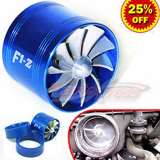 "For HYUNDAI 2.5-3"" TURBO Supercharger AIR INTAKE TURBONATOR Fuel Saver Fan BLUE"