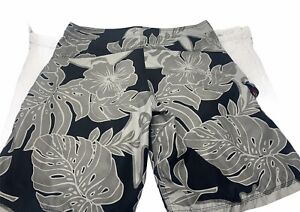 HURLEY Gray/Black Floral Board Shorts Men's Size 36