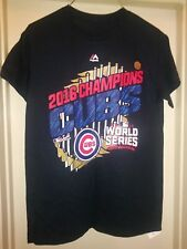Chicago Cubs Shirt Majestic World Series Champions MLB Parade Black Mens Tee New