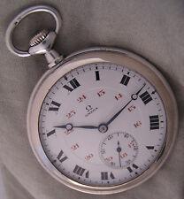 Vintage Hi Grade OMEGA '1914 Antique Swiss Silver Pocket Watch MINT Serviced