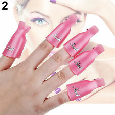 10pc Nail Soaker Set Wearable Clip Cap Gel Polish Remover Wash Art Wrap Manicure
