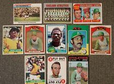 Athletics Baseball Reggie Jackson Rickey Henderson Fingers RC Hunter 25 Card Lot