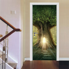 3d Big Tree Self Adhesive Door Sticker Wall Stickers Vinyl Decal Mural Wallpaper