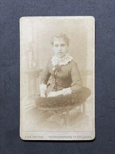 Victorian Carte De Visite CDV: Lady Dated 1885: A & G Taylor Bishop Auckland