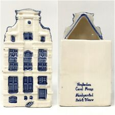 BLUE & WHITE DELFT AMSTERDAM CANAL HOUSE PLANTER, HANDPAINTED