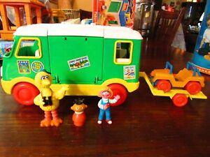Vintage Tyco Sesame Street Camper w/ Muppets & pcs.
