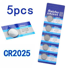 5Pcs CR2025 3V Alkaline Button Battery Cell Coin Watch Toys Calculator Batteries