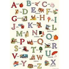 Alphabet Chart ABCs Decorative Paper Vintage Art Gift Wrap