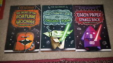 Star Wars Angleberger Books lot of 3 Fortune Wookie Darth Paper Origami Yoda PBs
