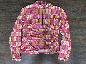 Terry Biking Cycling Shirt Jersey Long Sleeve Women's Size XL