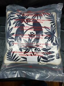 NEW Embroidered Black Birds and Palm Trees Square Decor Throw Pillow - 18x18
