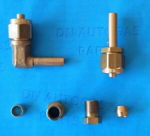 2 x 8mm LPG Autogas Flexible Pipe Fitting, Ends, FARO TYPE Connector, POLY pipe