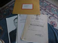1940' - 60's Us Army Letters Of Service & Appreciation + Photo Lc H.C. Needles