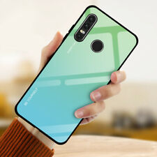 For Huawei Mate 20 P20 P30 Pro Lite Gradient Tempered GLASS Hybrid Case Cover