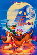 GREAT MOUSE DETECTIVE MOVIE POSTER MINT ! DS R1992 ROLLED 27x40 DISNEY ANIMATION