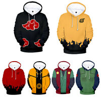 Men Women Naruto0 Cosplay Costume 3D Print Casual Pullover Hoodie Sweatshirt