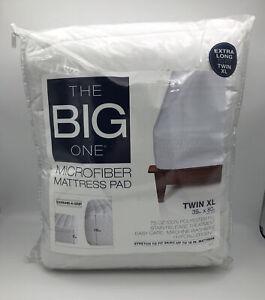 The Big One Microfiber Mattress Pad College Dorm NWT Hypoallergenic Twin XL
