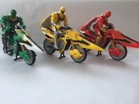 Power Rangers Mystic Force FLAME CYCLE SET Bike Rider & missile Launcher All 3