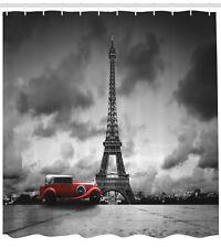 Eiffel Tower Shower Curtain Romantic Parisian Landmark 84 Inches Extra Long
