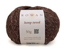 (11,90€/100g) Rowan Hemp Tweed Wolle stricken Tweedgarn Hanf