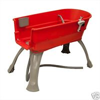 """Booster Bath Elevated Dog Bathing Tub Large 45"""" x 21.25"""" x 15"""" - BB-LARGE RED"""