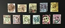 Great Britain, 11 Stamps, Sc # 99-159, Used, Some w/Perf Flaws (See Photos)