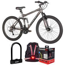 """Kent 27.5"""" Takara Jiro Dual-Suspension Disc Brake Mountain Bike + Lock Bundle"""