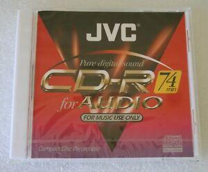 JVC CD-RA74 CD-R Blank Recordable Disc 74 MINS - NEW & SEALED