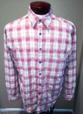 The Territory Ahead Men's Cotton Plaid LS Button Front Casual Shirt M