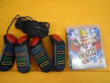 ps3 BUZZ Quiz TV + Official BUZZERS Controllers Playstation PAL