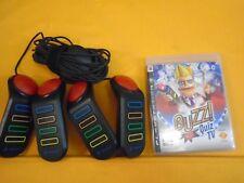Ps3 Buzz Quiz Tv + officiel Buzzers Contrôleurs Playstation Pal
