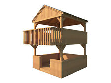Playhouse Fort Plans DIY 2 Story Backyard Playground Kids Toys Build Your Own