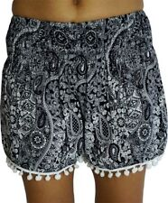 High Waist Machine Washable Floral Shorts for Women