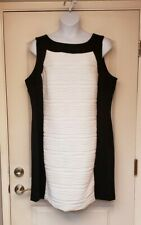 Black and White Ottoman Dress By Calvin Klein Size 22W