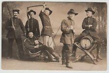 Truppenübungsplatz Friedrichsfeld b.Wesel Soldaten Budenzauber Humor ~1915