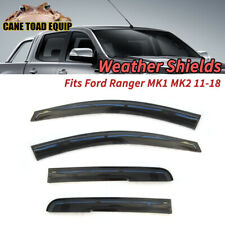 Weather Shields Window Visor Fit Ford Ranger PX1 PX2 11-18 Rain Guards Injection